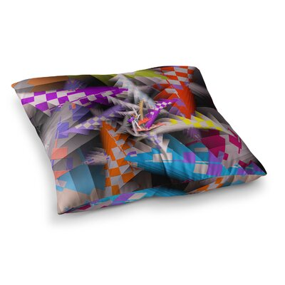 Michael Sussna Sticker Thicket Square Floor Pillow Size: 23 x 23