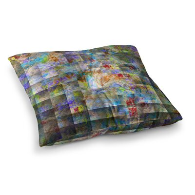 Michael Sussna Yggdrasil Abstract Square Floor Pillow Size: 26 x 26