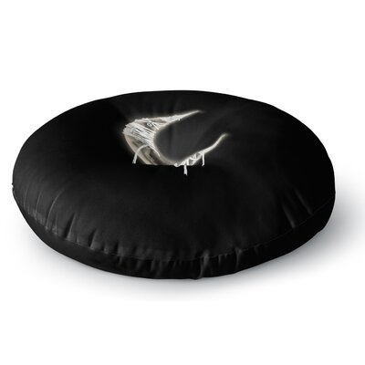 BarmalisiRTB Mummy Moon Digital Round Floor Pillow Size: 26 x 26