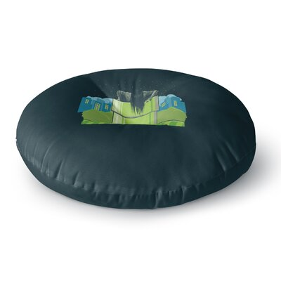 BarmalisiRTB The Wrong Hole Digital Round Floor Pillow Size: 26 x 26