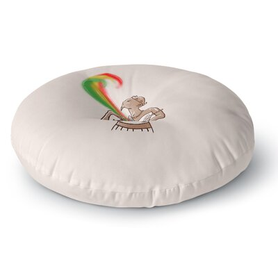BarmalisiRTB Supreme Pyramid Digital Round Floor Pillow Size: 26 x 26