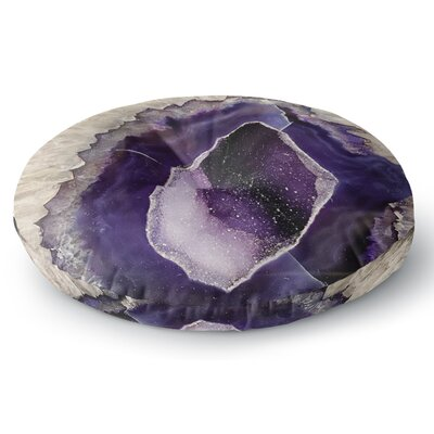 Sylvia Cook Purple Quartz Round Floor Pillow Size: 23 x 23