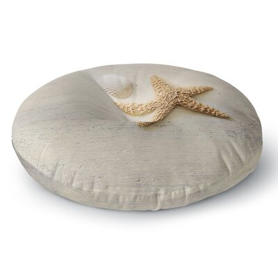 Sylvia Cook Starfish and Shell Round Floor Pillow Size: 26 x 26