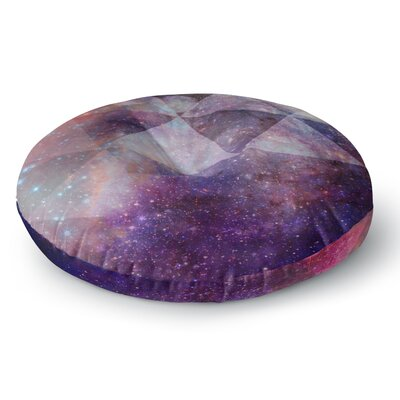 Suzanne Carter Geometric stars Round Floor Pillow Size: 26 x 26