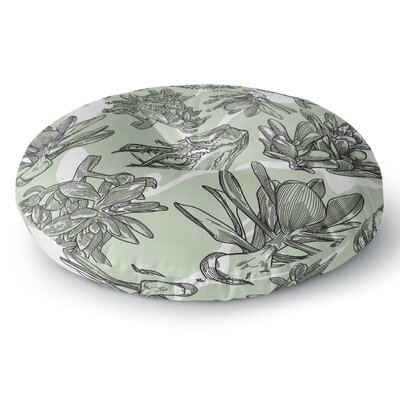 Sam Posnick Succulent Pattern Illustration Round Floor Pillow Size: 23 x 23