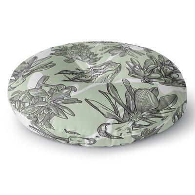 Sam Posnick Succulent Pattern Illustration Round Floor Pillow Size: 26 x 26