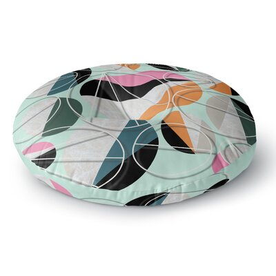 SusanaPaz Stones on Mint Digital Round Floor Pillow Size: 26 x 26