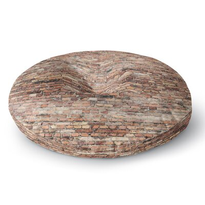 Susan Sanders Rustic Bricks Round Floor Pillow Size: 26 x 26