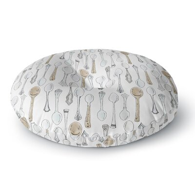 Stephanie Vaeth Spoons Round Floor Pillow Size: 23 x 23