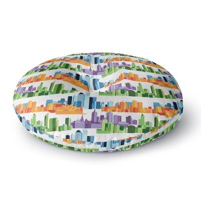 Stephanie Vaeth Australian Cities Round Floor Pillow Size: 26 x 26