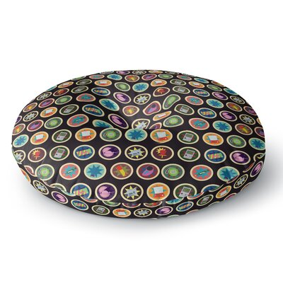 Stephanie Vaeth Toys, Games & Candy Round Floor Pillow Size: 26 x 26