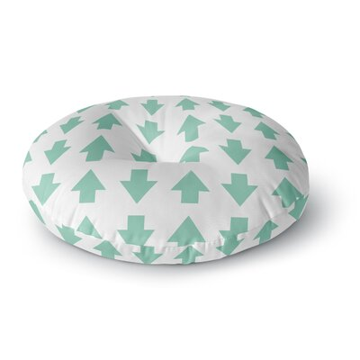 Project M Arrows Up and Down Mint Round Floor Pillow Size: 26 x 26