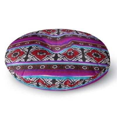 S Seema Z SINDHI AJRAK Round Floor Pillow Size: 23 x 23