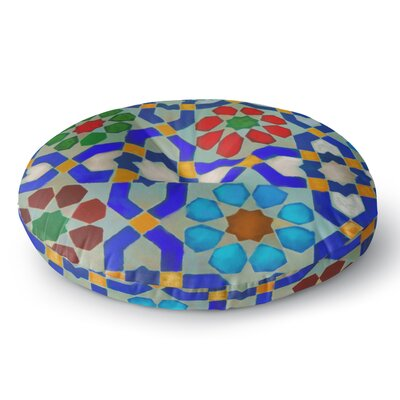 S Seema Z MORROCON BLUES Round Floor Pillow Size: 26 x 26