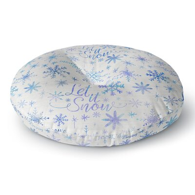 Noonday Design Let it Snow Winter Pattern Round Floor Pillow Size: 23 x 23