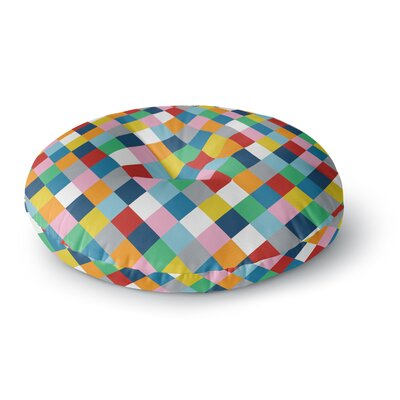 Project M Harlequin Zoom Round Floor Pillow Size: 26 x 26