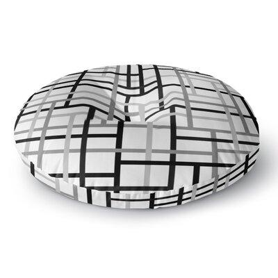 Trebam Veza V Lines Round Floor Pillow Size: 26 x 26