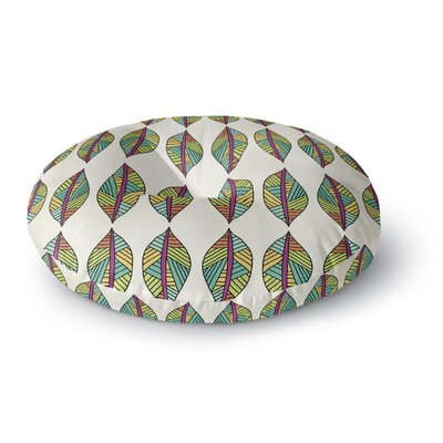 Pom Graphic Design Tribal Leaves Round Floor Pillow Size: 26 x 26