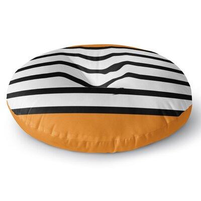 Trebam Sest Redaka Orange gerine Round Floor Pillow Size: 23 x 23