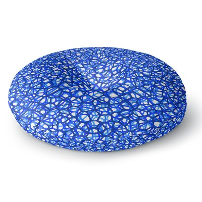Trebam Staklo Blue Digital Round Floor Pillow Size: 23 x 23