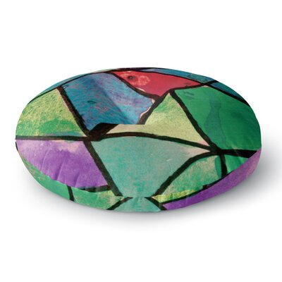 Theresa Giolzetti Stain Glass 1 Round Floor Pillow Size: 26 x 26