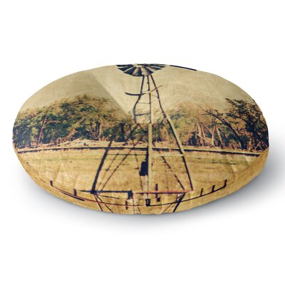 Sylvia Coomes We Are in Kansas Travel Round Floor Pillow Size: 23 x 23