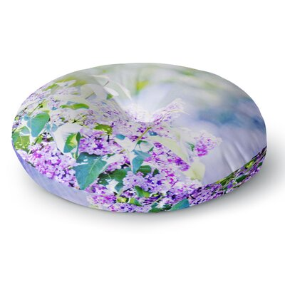 Sylvia Coomes Hazy Purple Flowers Nature Round Floor Pillow Size: 26 x 26