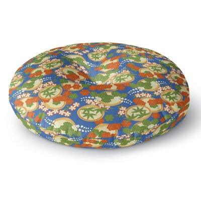 Setsu Egawa Clam and Paulownia Round Floor Pillow Size: 23 x 23