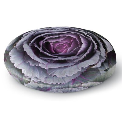 Susan Sanders Flower Love Round Floor Pillow Size: 26 x 26