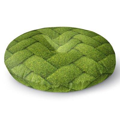 Susan Sanders Ivy Basket Weave Round Floor Pillow Size: 26 x 26