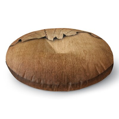 Susan Sanders Natural Wood Rustic Nature Round Floor Pillow Size: 23 x 23