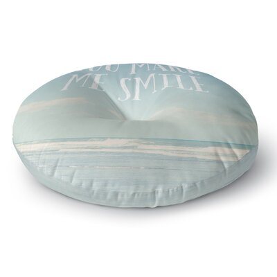 Susannah Tucker You Make Me Smile Beach Sky Round Floor Pillow Size: 26 x 26