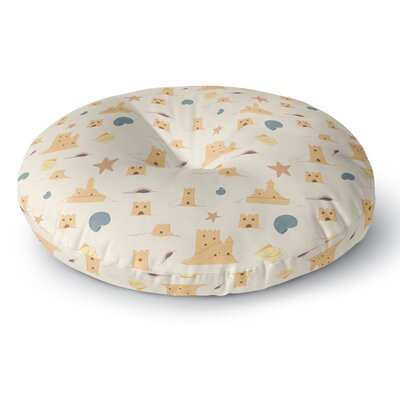 Stephanie Vaeth Sandcastles Round Floor Pillow Size: 26 x 26