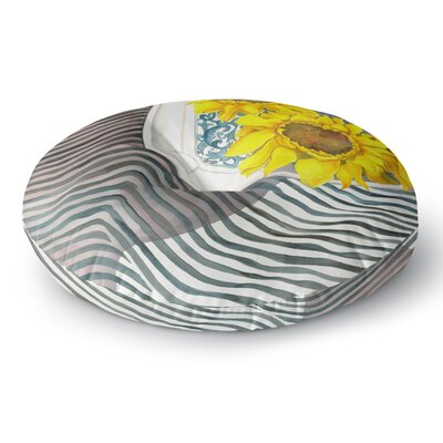 S. Seema Z Finall Sunflower Flower Round Floor Pillow Size: 26 x 26