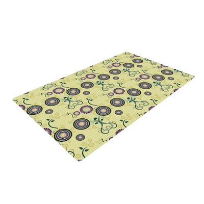Mydeas Spring Florals Yellow Area Rug Rug Size: 2 x 3