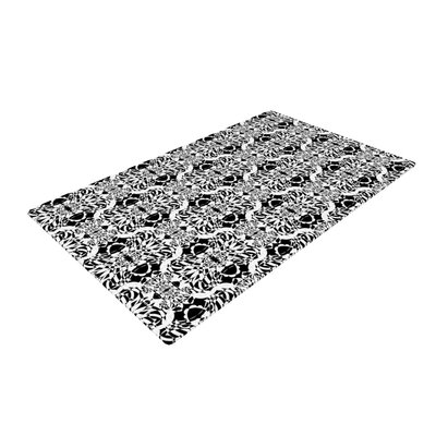 Mydeas Illusion Damask Black and White Monochrome Area Rug Rug Size: 4 x 6