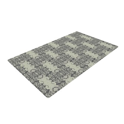 Mydeas Illusion Damask Silver/Gray Area Rug Rug Size: 2 x 3
