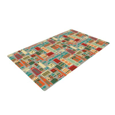 Allison Beilke My Fair Milwaukee City Red/Gray Area Rug Rug Size: 4 x 6