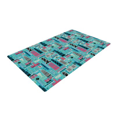 Allison Beilke My Kind of Chicago Blue/Pink Area Rug Rug Size: 2 x 3