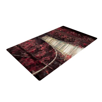 Ann Barnes Enchant Bridge Red Area Rug Rug Size: 4 x 6