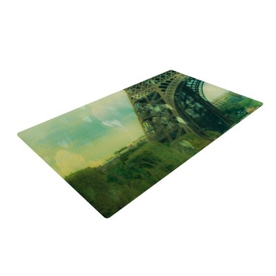 Ann Barnes Paris Dreams Tower Green Area Rug Rug Size: 4 x 6