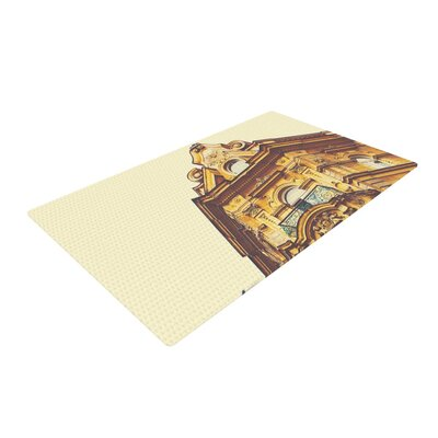 Ann Barnes Prague Morning Building Gold/Yellow Area Rug Rug Size: 2 x 3