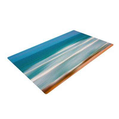 Ann Barnes Sun and Sea Blue/Aqua Area Rug Rug Size: 2 x 3