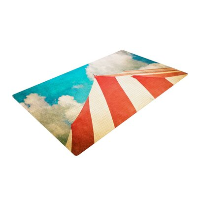 Ann Barnes The Big Top Red/Blue Area Rug Rug Size: 4 x 6