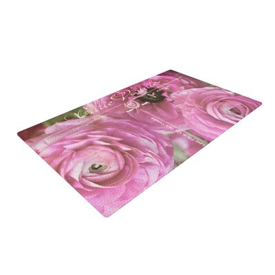 Ann Barnes Paris Postcard Flowers Pink Area Rug Rug Size: 4 x 6