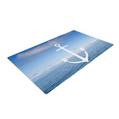 Ann Barnes Roam III Anchor Blue Area Rug Rug Size: 4 x 6
