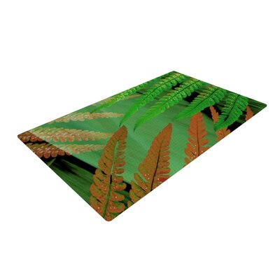 Alison Coxon Forest Fern Russet Green/Brown Area Rug Rug Size: 2 x 3