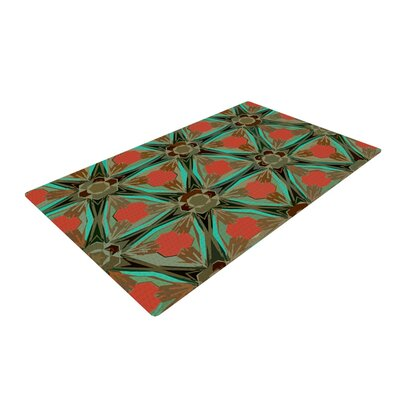 Alison Coxon Moorish Earth Teal/Orange Area Rug Rug Size: 4 x 6