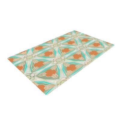 Alison Coxon Moorish White/Teal Area Rug Rug Size: 4 x 6