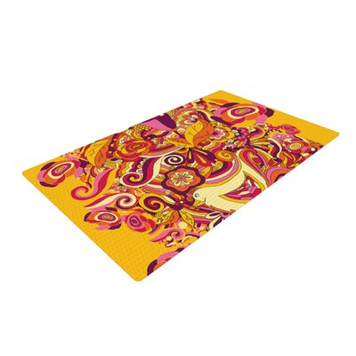Alisa Drukman Utopia Orange/Gold Area Rug Rug Size: 2 x 3